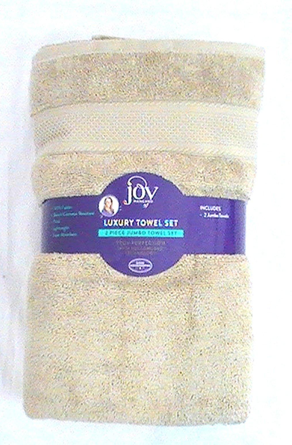 JOY 2 piece Jumbo Plush True Perfection Bleach-Resistant Luxurious Towels - Linen Driftwood