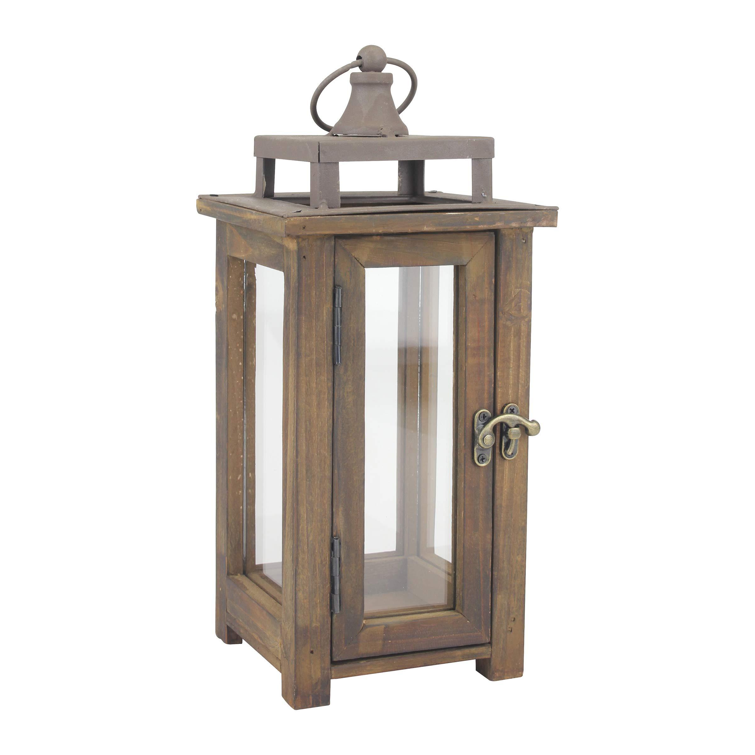 Wood Stonebriar Candle Lantern Brown L