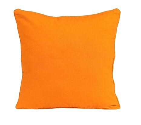 Amazon Homescapes Plain Orange Cushion Cover 40 X 40 Cm Gorgeous 30 X 30 Decorative Pillows