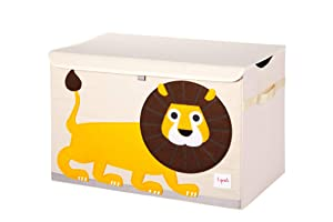 3 Sprouts Kids Toy Chest - Storage Trunk for Boys and Girls Room, Lion