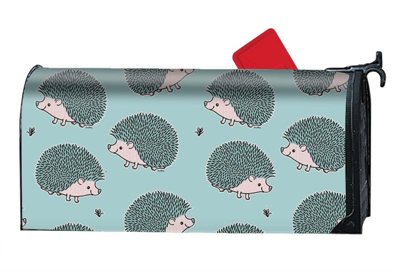 KSLIDS Decorative Magnetic Mailbox Cover Hedgehog - Pink and Blue Mailbox Wrap