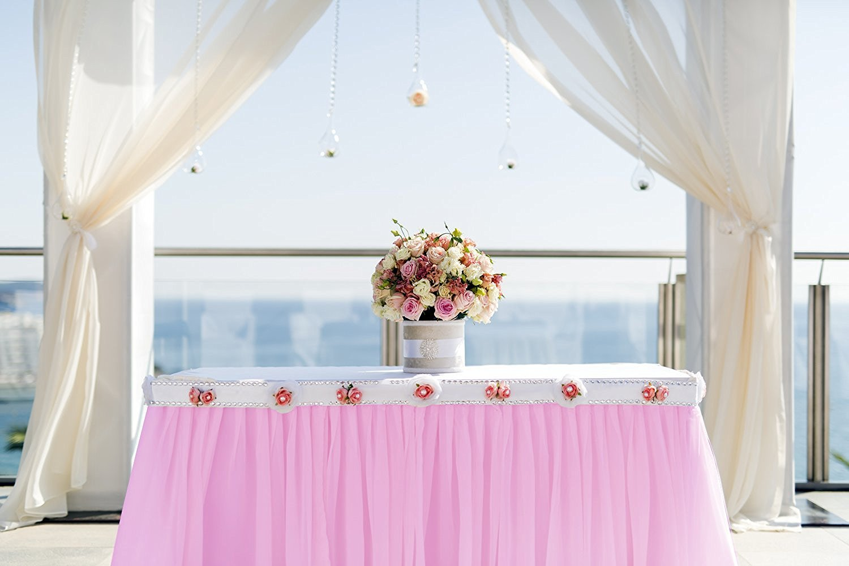 6 pollici x 100 iarde azzurro Tulle Rotolo Bobina tessuto Wedding decorazione del partito di Natale 300 piedi