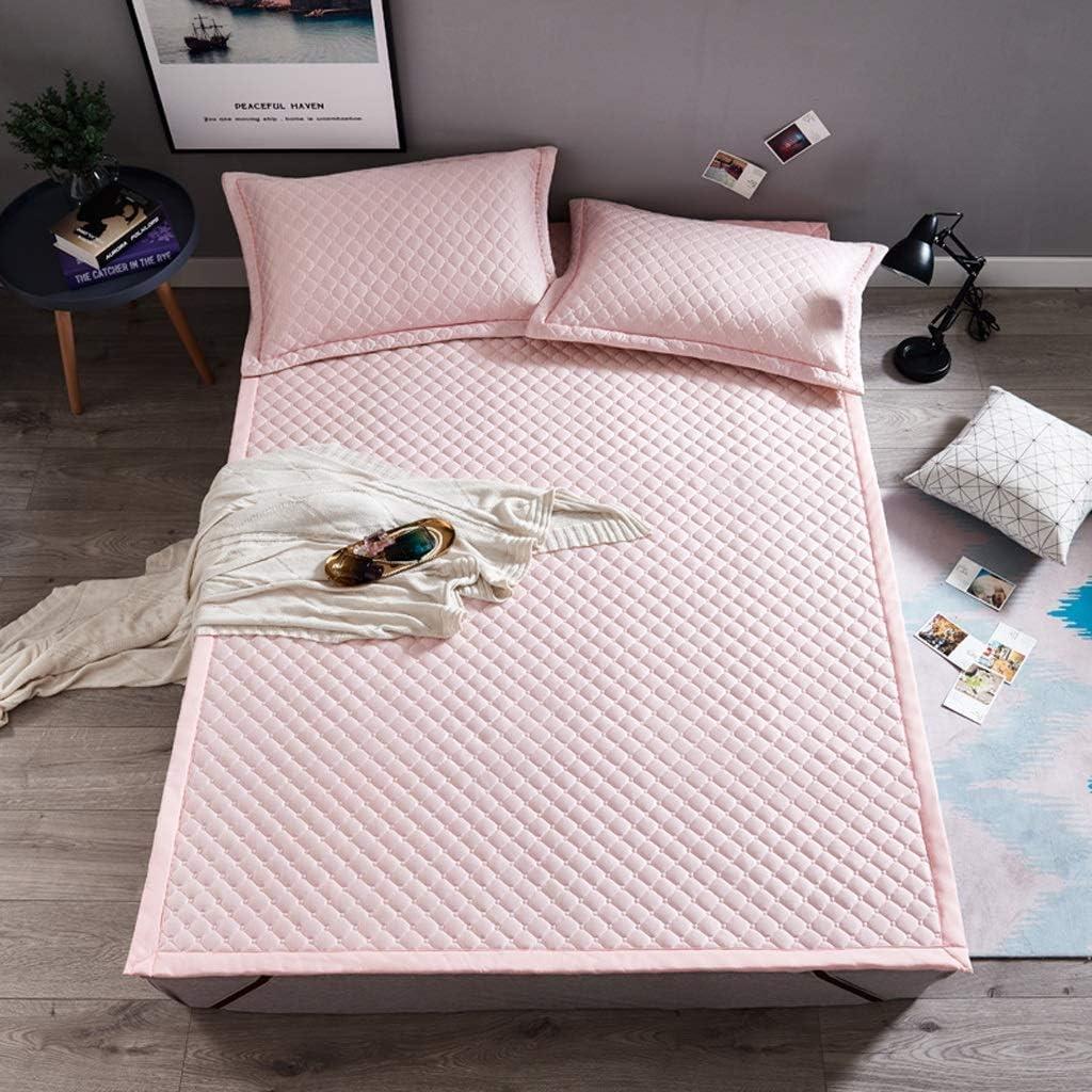 ZHAS Colchón Colchoneta para Dormir de Verano, colchón Cool Feeling Malla 3D Colchón de Tatami Transpirable Colchoneta de Piso Suave Colchón Antideslizante, no tapado (Color: Rosa, tamaño: 1.2 x