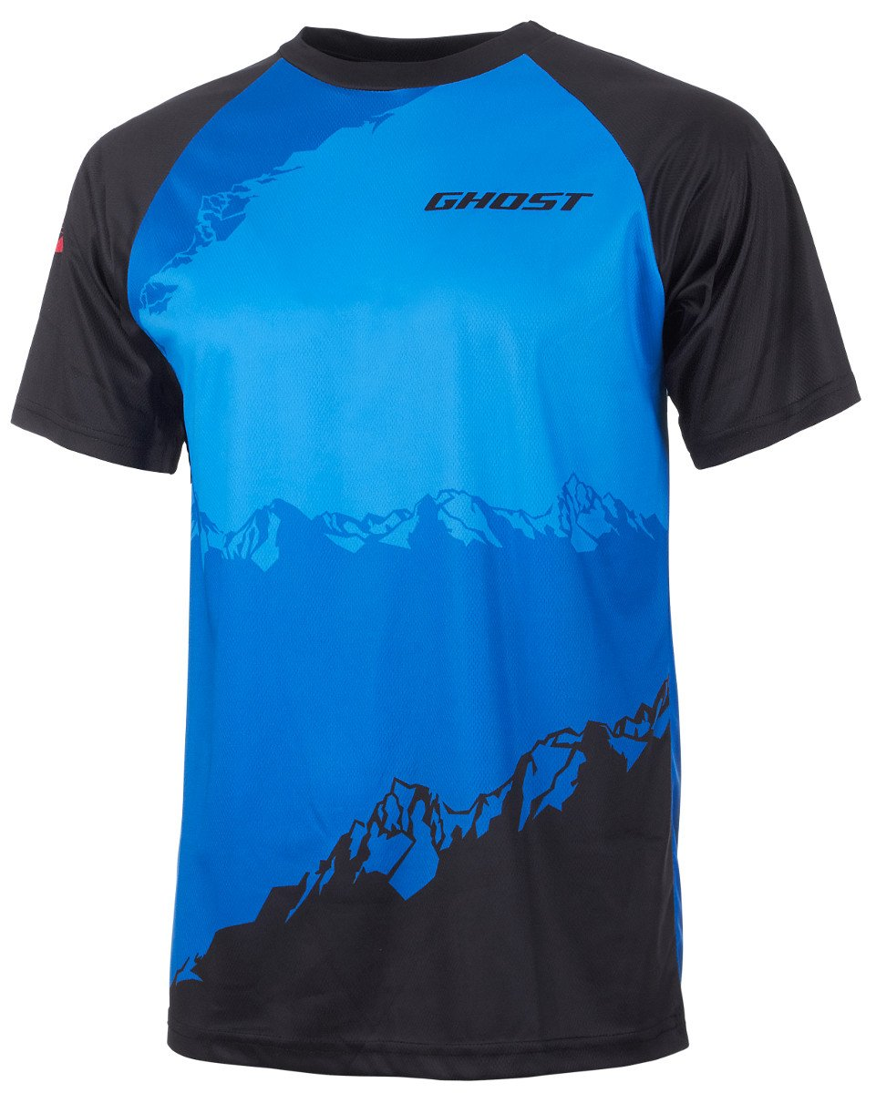 Ghost All Mountain Jersey Short schwarz Blau MTB Radtrikot 2017