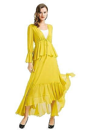 Yellow maxi dress amazon