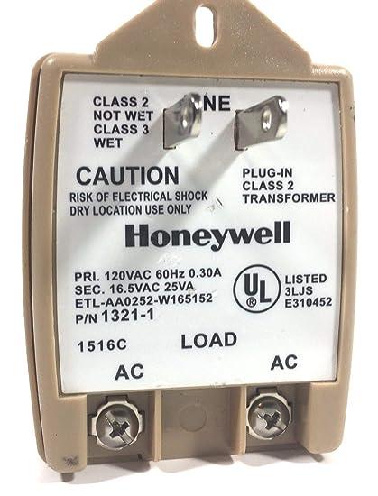 Honeywell Intrusion 1321-1 Transformer 16 5VAC 25VA