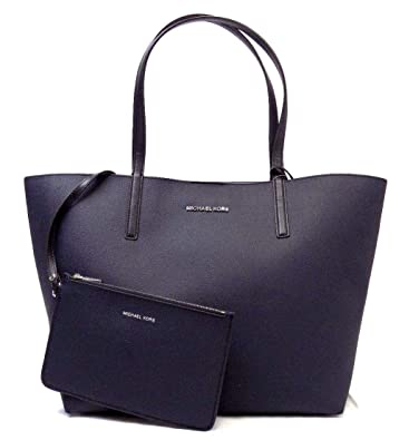 df3bd4d6f6fa Amazon.com: MICHAEL KORS HAYLEY LARGE EAST WEST NAVY LEATHER TOTE BAG: Shoes