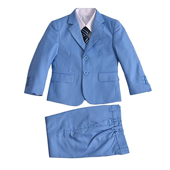 Cinda 5 pi/èces Bleu gar/çon Costume Costume de Mariage Page gar/çon Costume