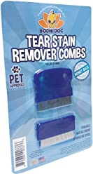 Tear Eye Stain Remover Combs   Set of 2   Clean and Remove Residue, Dirt, Buildup Around Pet Eyes   Best for Dogs & Cats Fur and Coats