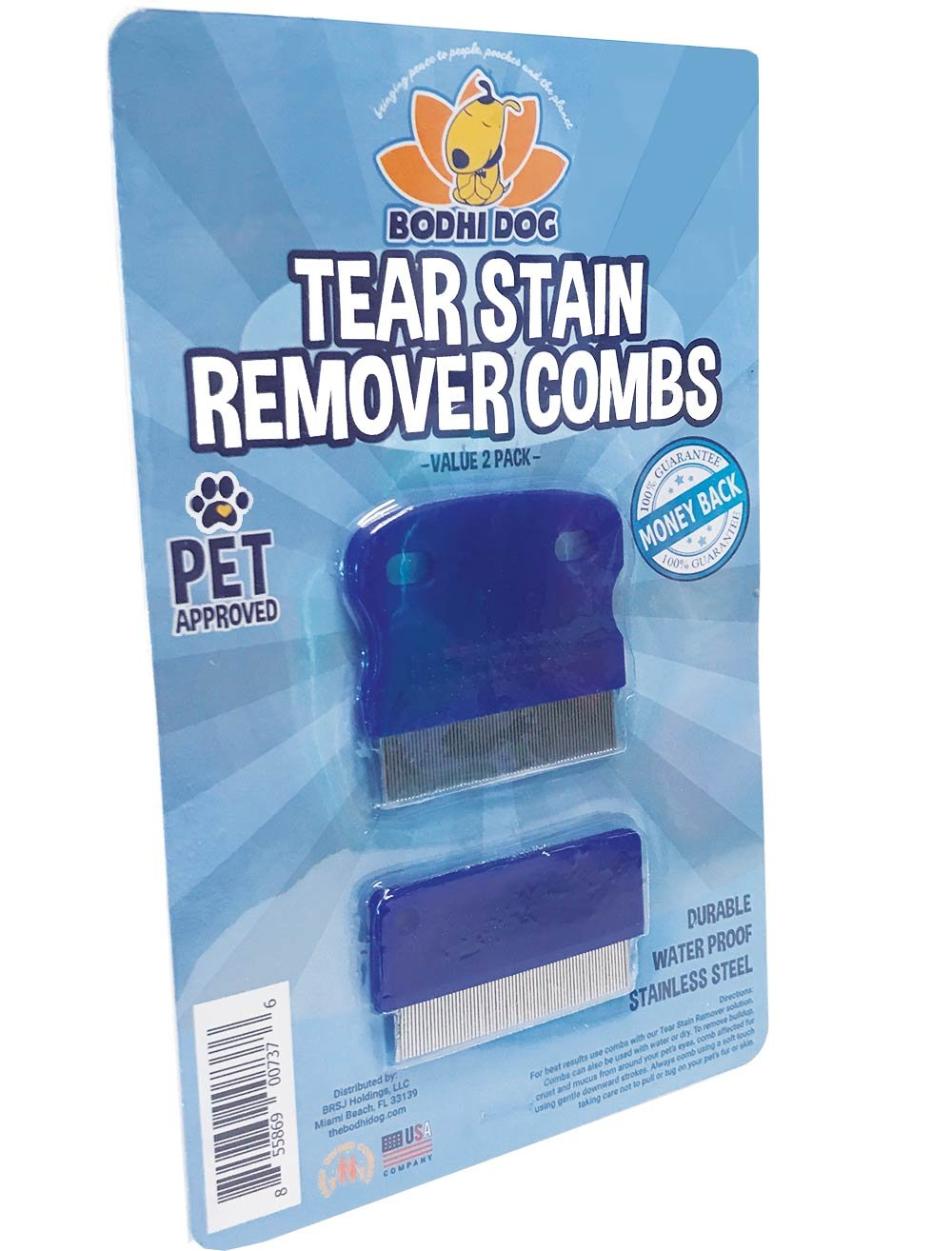 Tear Eye Stain Remover Combs | Set of 2 | Clean and Remove Residue Dirt Buildup