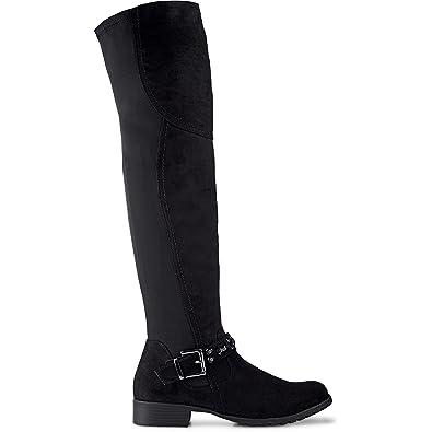 Cox Overknee-Stiefel schwarz Damen
