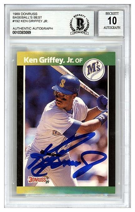 25664cf3f3 Ken Griffey Jr. Autographed Signed 1989 Donruss Baseball's Best Rookie Card  #192 Seattle Mariners
