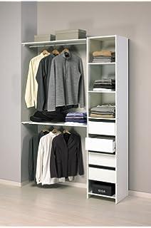 kit armario ropero blanco gran capacidad para dormitorio xcm tipos de montaje