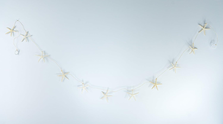 Nautical Crush Trading Nautical Garland | White Finger Starfish Garland for Decoration | Beach Garland for Nautical Decor TM