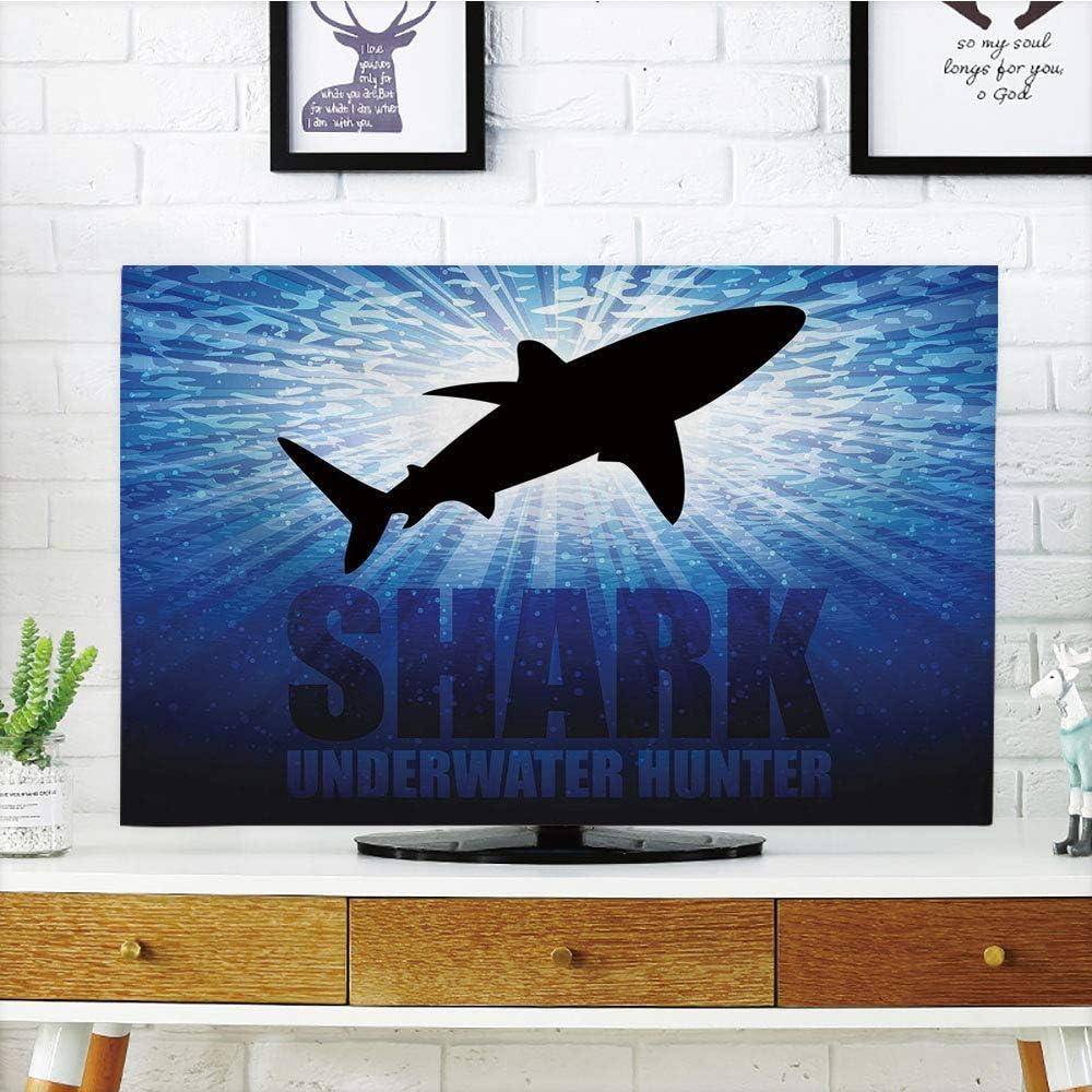 Funda para televisor LCD con diseño de tiburón, Mundo Tropical Submarino con Peces y Sereno de Arrecife de Coral, Compatible con televisores de 65 Pulgadas: Amazon.es: Electrónica