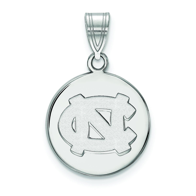 North Carolina Medium (5 / 8インチ) ディスクペンダント(10 Kホワイトゴールド)   B01JAOOYEY