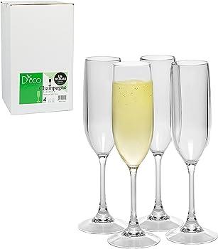 4-Pack Unbreakable Champagne Glasses 100% Tritan Shatterproof