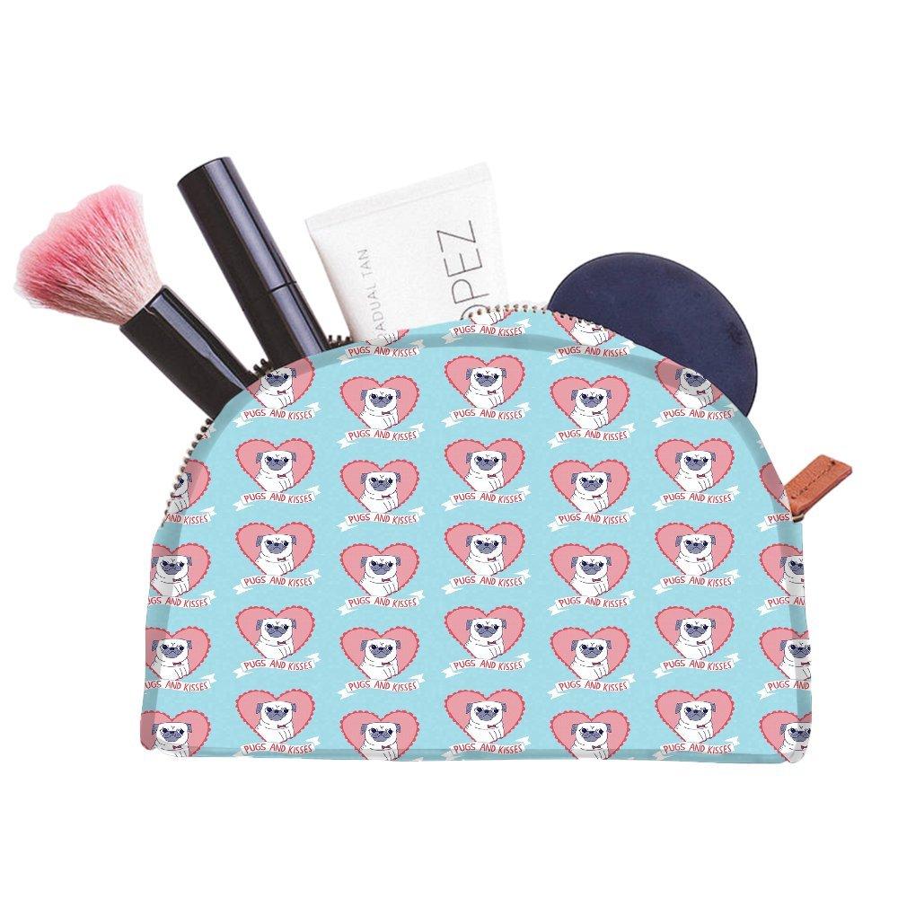 Snoogg Pugs and Kisses mignon multifonctionnel Toile Pen Sac trousse maquillage Outil Sac pochette de rangement Sac à main