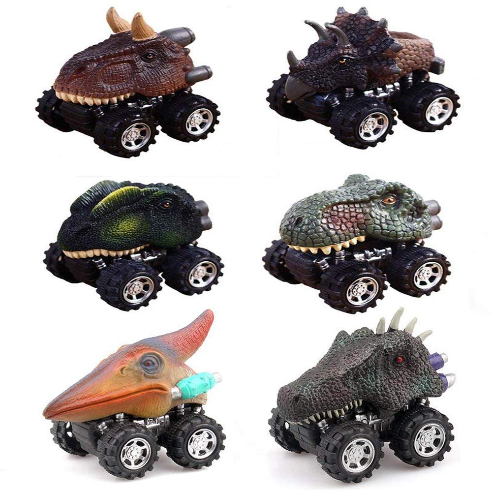 Easony Christmas Birthday Presents Gifts for 2-6 Year Old Boys Girls, Fun Dinosaur Pull Back Vehicles for Kids Toys for 2-6 Year Old Boys Girls ESUSDC006
