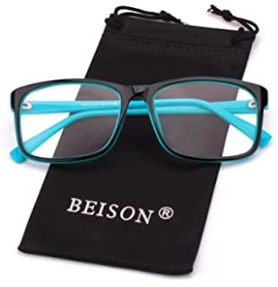 Amazon.com: beison Womens Mens Rimless anteojos Retro ...