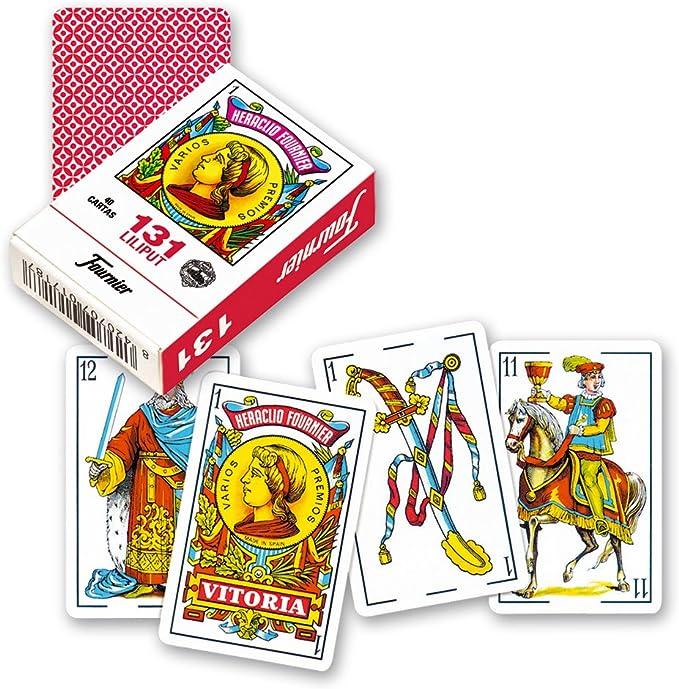 Fournier- nº 313 Lilitut Baraja De Cartas De Viaje, Color Rojo (21598): Amazon.es: Juguetes y juegos
