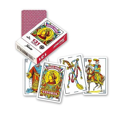 Fournier- nº 313 Lilitut Baraja De Cartas De Viaje, Color Rojo (21598)