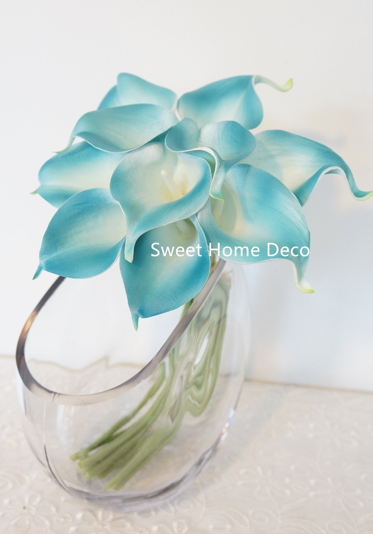 Sweet-Home-Deco-Latex-Real-Touch-15-Artificial-Calla-Lily-10-Stems-Flower-Bouquet-for-HomeWedding-Aqua