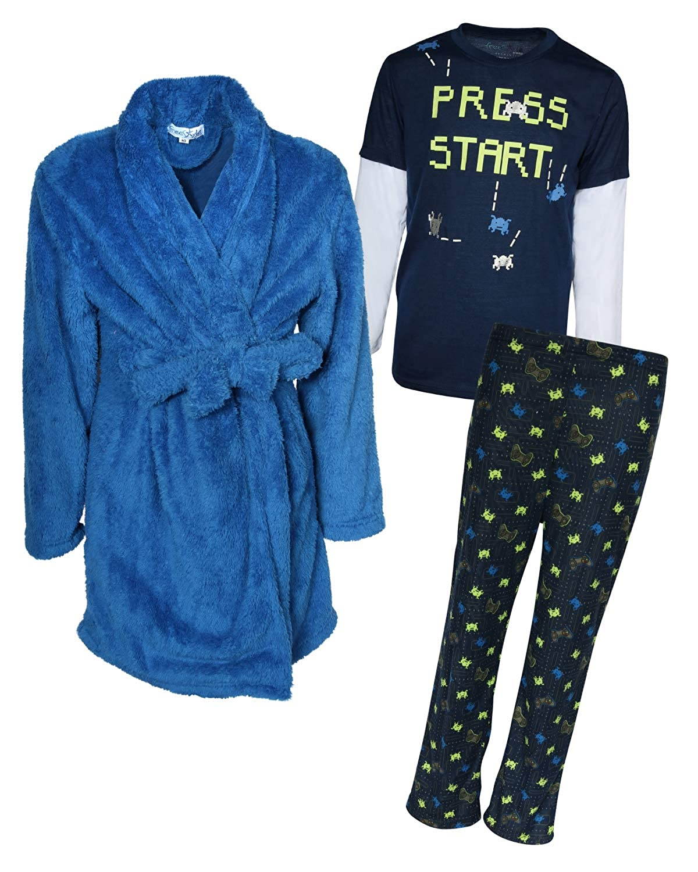 Freestyle Big Boys 3 Piece Pajama Robe Set