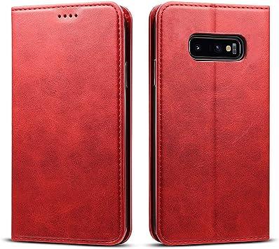 FDTCYDS Etui Galaxy s10e,Coque Samsung s10E Pochette Portefeuille en Cuir Véritable Coque de Protection pour Housse Samsung Galaxy S10e avec Fonction ...