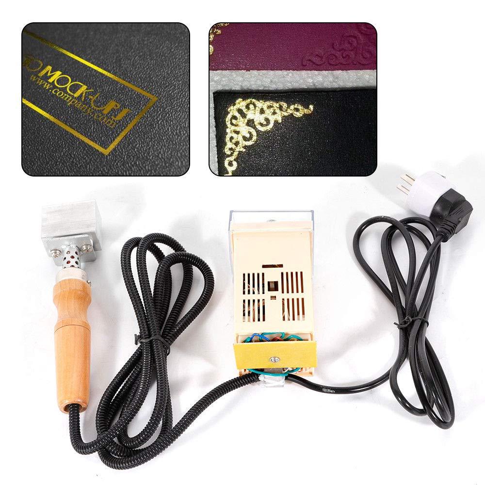 110V Handheld Leather Stamping Machine Temperature Adjustable Hot Foil Pressing Embossing Machine Leather Logo Branding