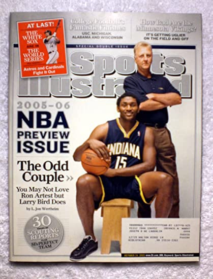 Ron Artest   Larry Bird - Indiana Pacers - The Odd Couple - Sports  Illustrated - 878f1c43d