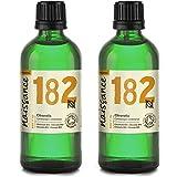 Naissance Olio di Citronella Biologico - Olio Essenziale Puro al 100% - Certificato Biologico - 200ml (2x100ml)