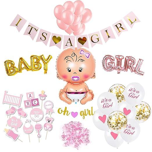 Folienballon Geburt Mädchen Its a girl rosa Heliumballon 43 cm Ballon