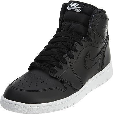 Nike Air Jordan 1 Retro High OG BG, Chaussures de Sport Basketball garçon