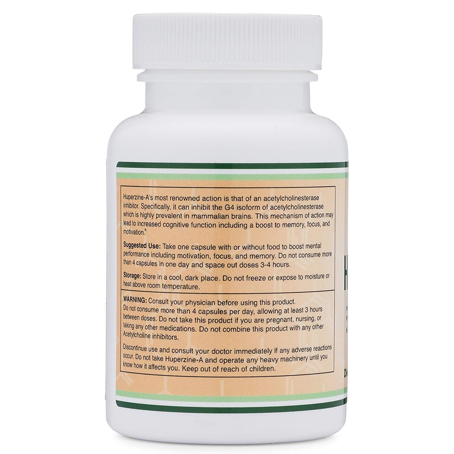 Huperzine A 200mcg (Third Party Tested) Made in The USA, 120 Tablets, Nootropics Brain Supplement to Boost Acetylcholine, Improve Memory and Focus by Double Wood Supplements by Double Wood Supplements (Image #3)