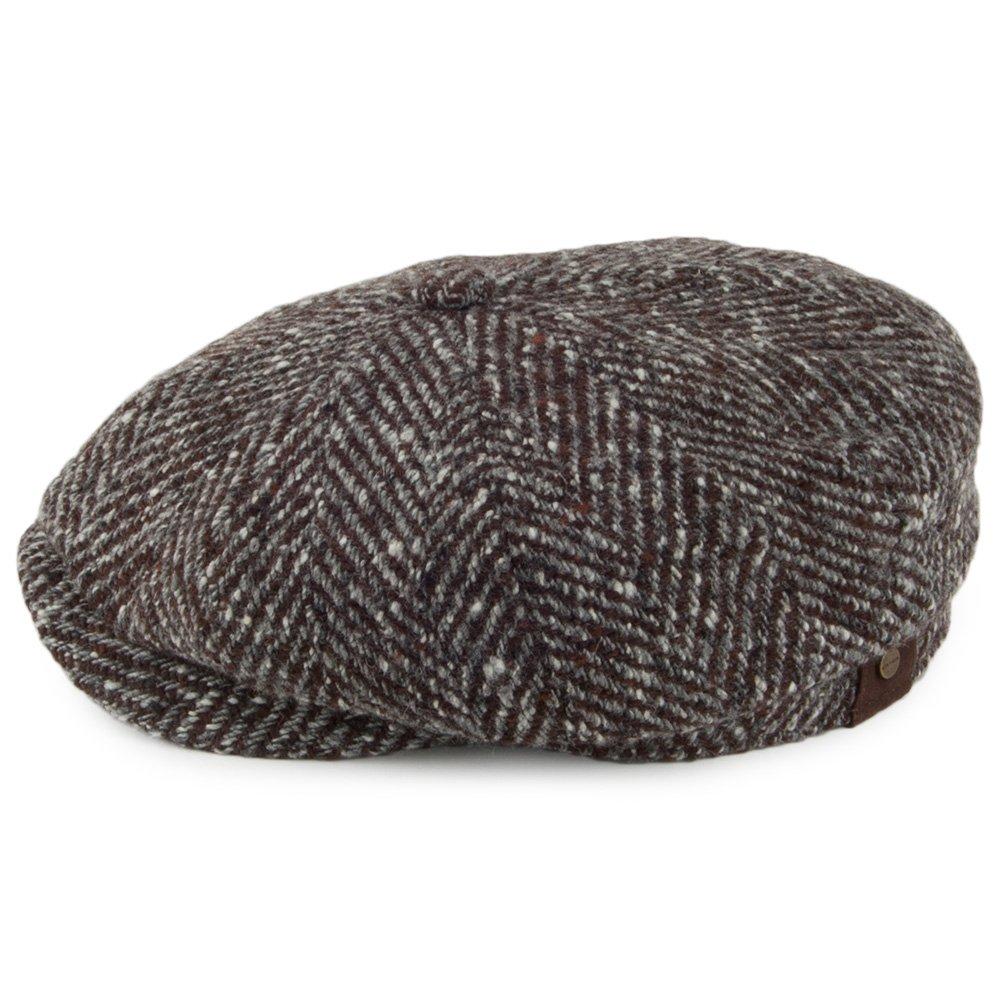 Stetson Hatteras Herringbone Coppola berretti piatti cappello beanie ... 742d5b424af5