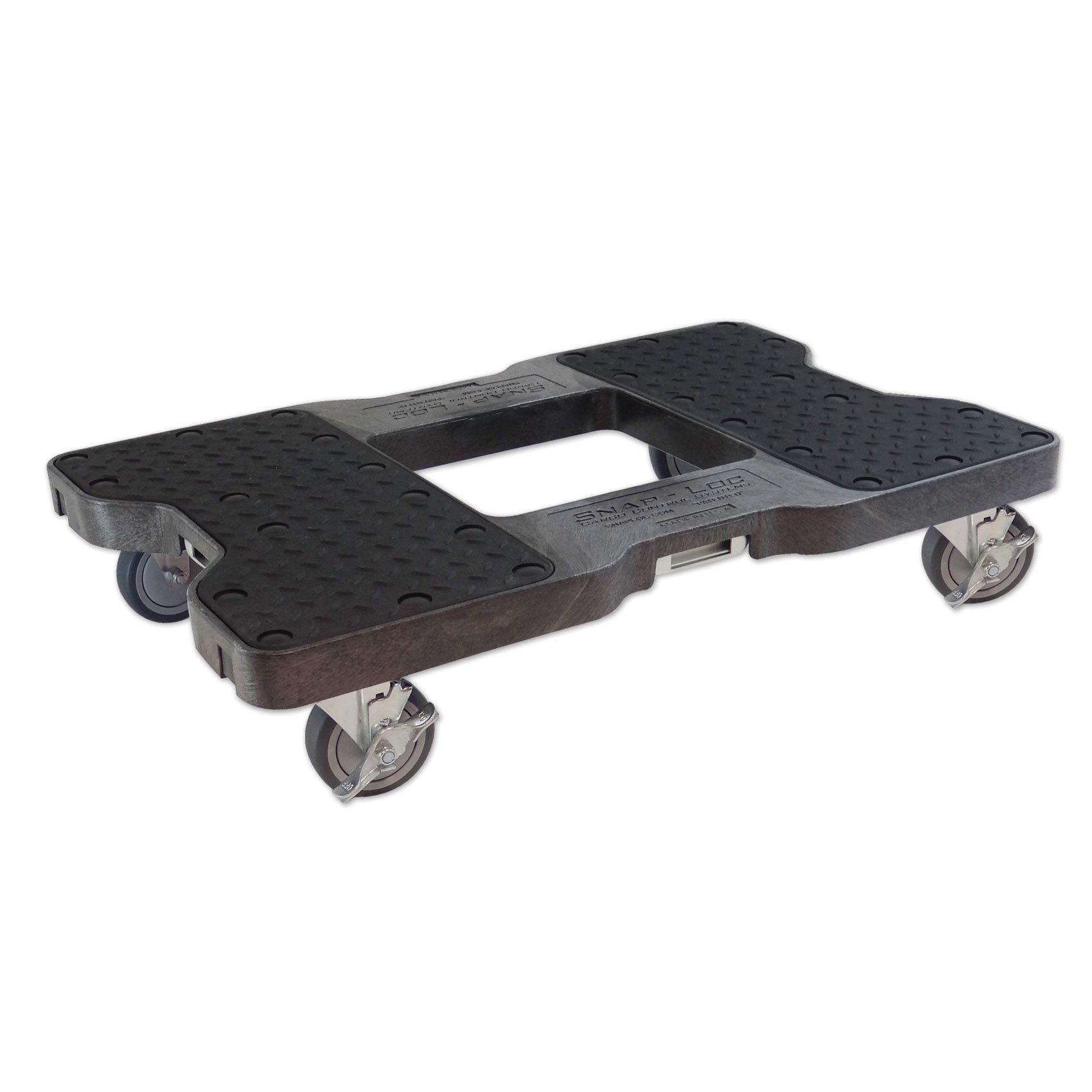 SNAP-LOC DOLLY BLACK (USA!) with 1500 lb Capacity, Steel Frame, 4 inch Casters and optional E-Strap Attachment by Snap-Loc