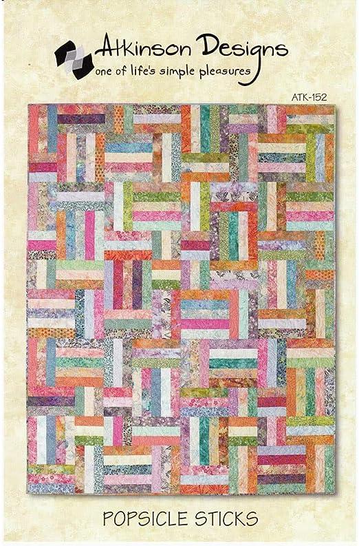Amazon Com Atkinson Popsicle Sticks Jelly Roll Quilt Pattern