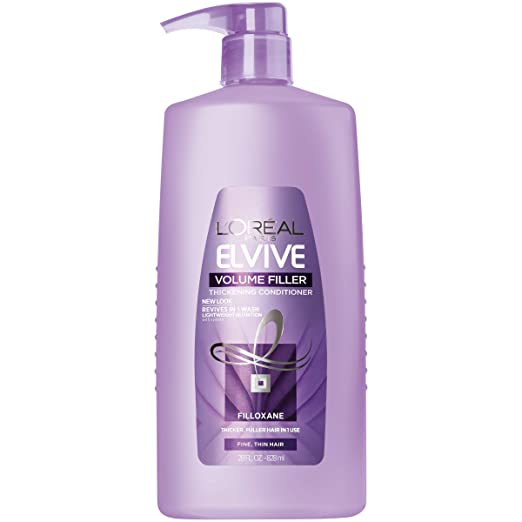L'Oréal Paris Elvive Volume Filler Thickening Conditioner, for Fine or Thin Hair, Conditioner with Filloxane, for Thicker Fuller Hair in 1 Use, 28 fl. oz. best volumizing conditioner