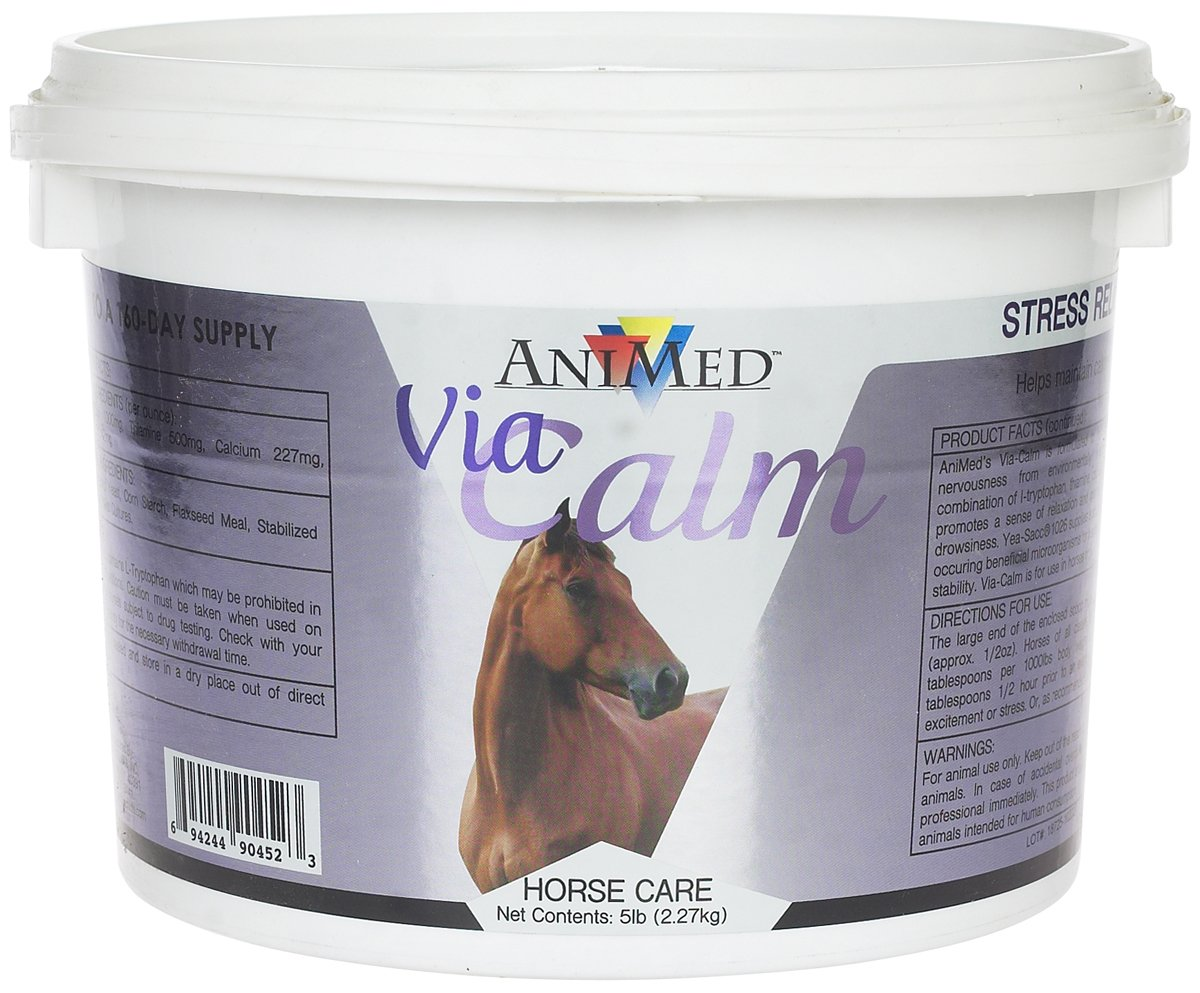 Animed Via-Calm 5 LB Nerve Stress Relief Supplement for Horses Emotional Balance by AniMed