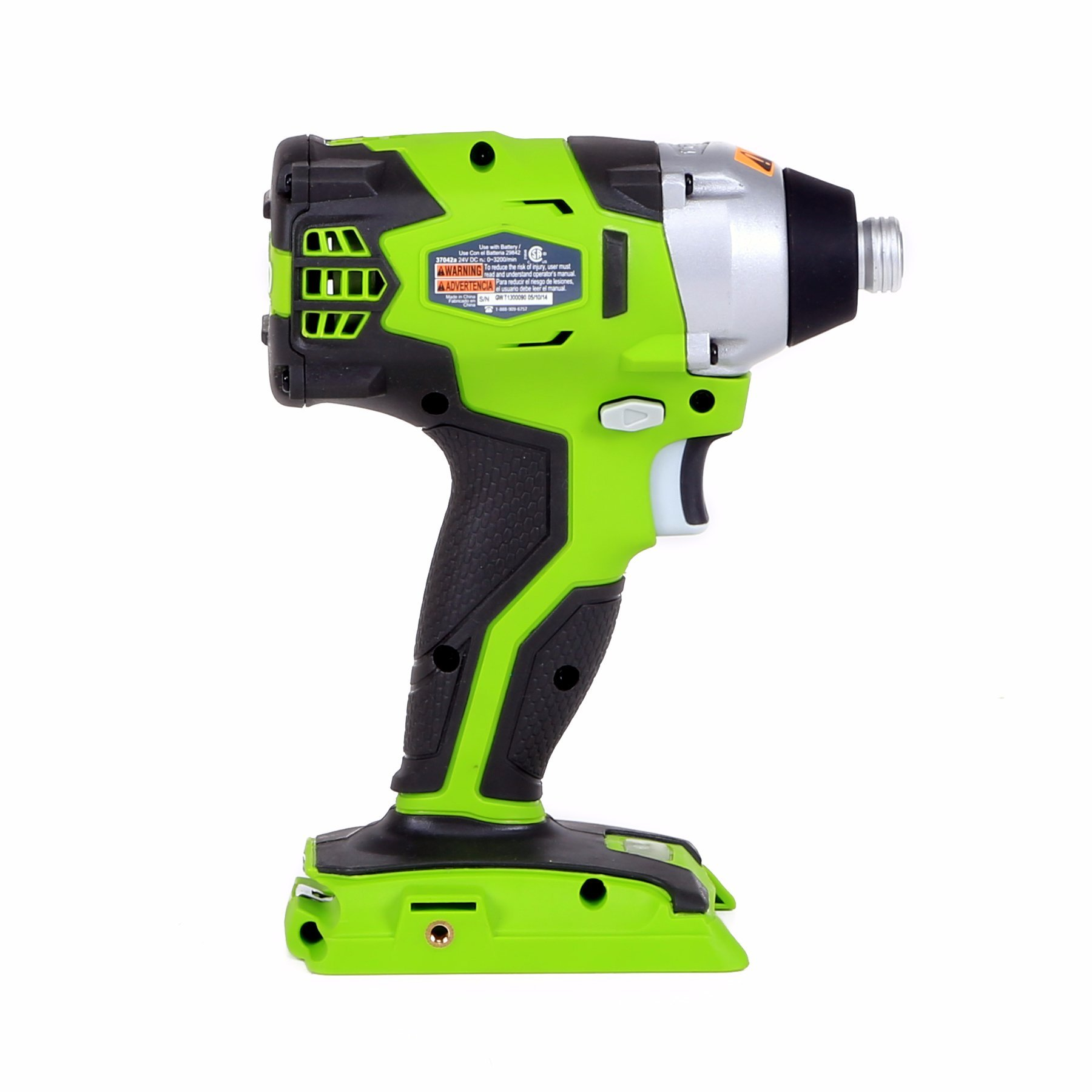 Greenworks 37042A 24V Cordless Impact Driver, Green
