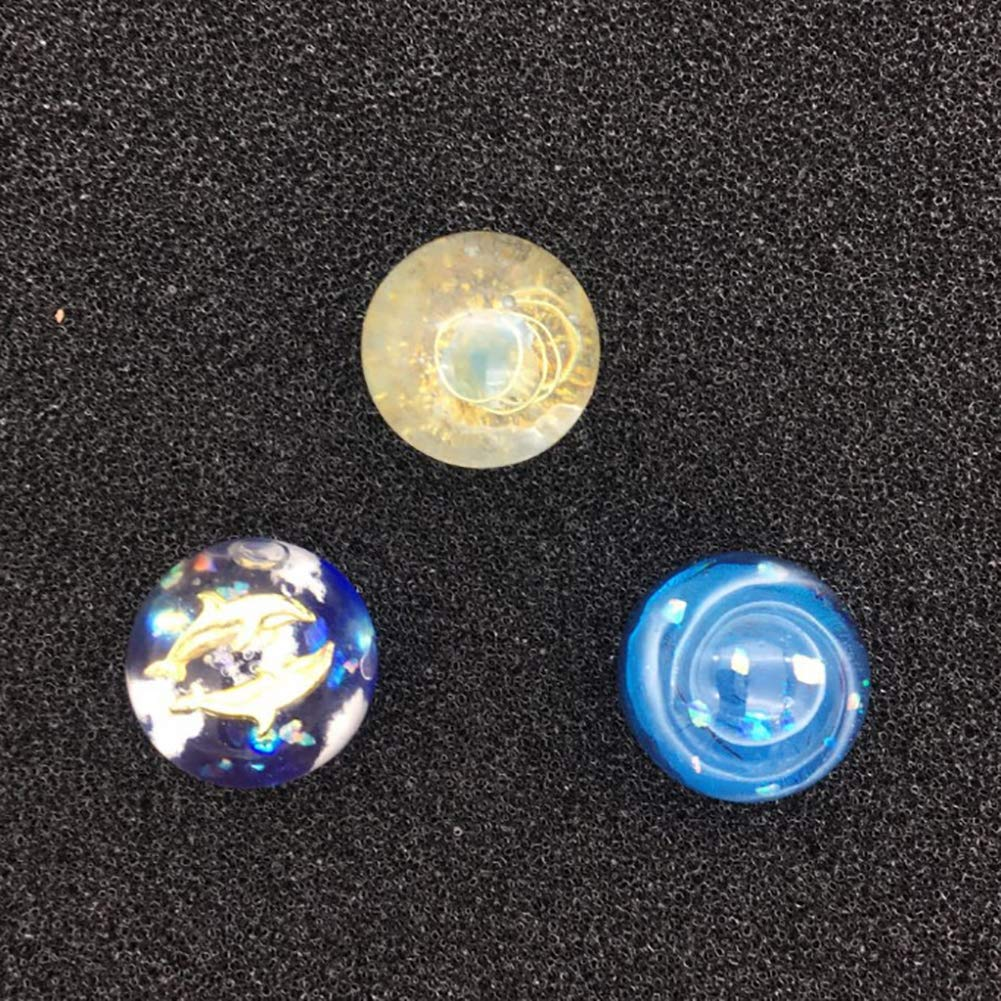 Quarz f/ür Schmuckherstellung 3 cm Kuizhiren1 Silikon-Form f/ür Fondant handgefertigte Halskette 2cm zum Basteln Kugelform