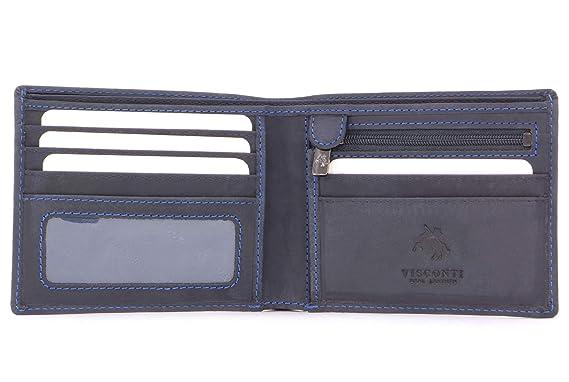 Visconti - SHIELD 707 - Cartera - Cuero Hunter (Azul - RFID)