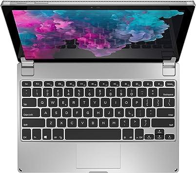 Brydge 12.3 Teclado inalámbrico Bluetooth para Microsoft Surface Pro 6   Surface Pro 5   Surface Pro 4   Ángulo de visión de 160 grados (plateado)