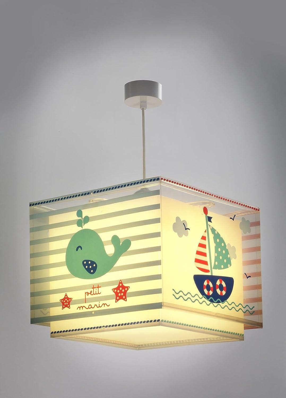 Dalber 43422 Lampe suspendue Petit Marin en plastique Bleu 30,5x30,5x25cm