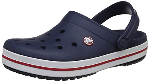 db117f378 crocs Unisex s Crocband Navy Clogs-M5W7 (11016-410)  Buy Online at ...