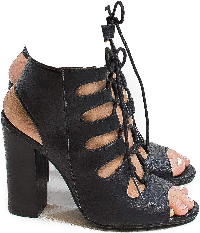 lace up heels peep toe