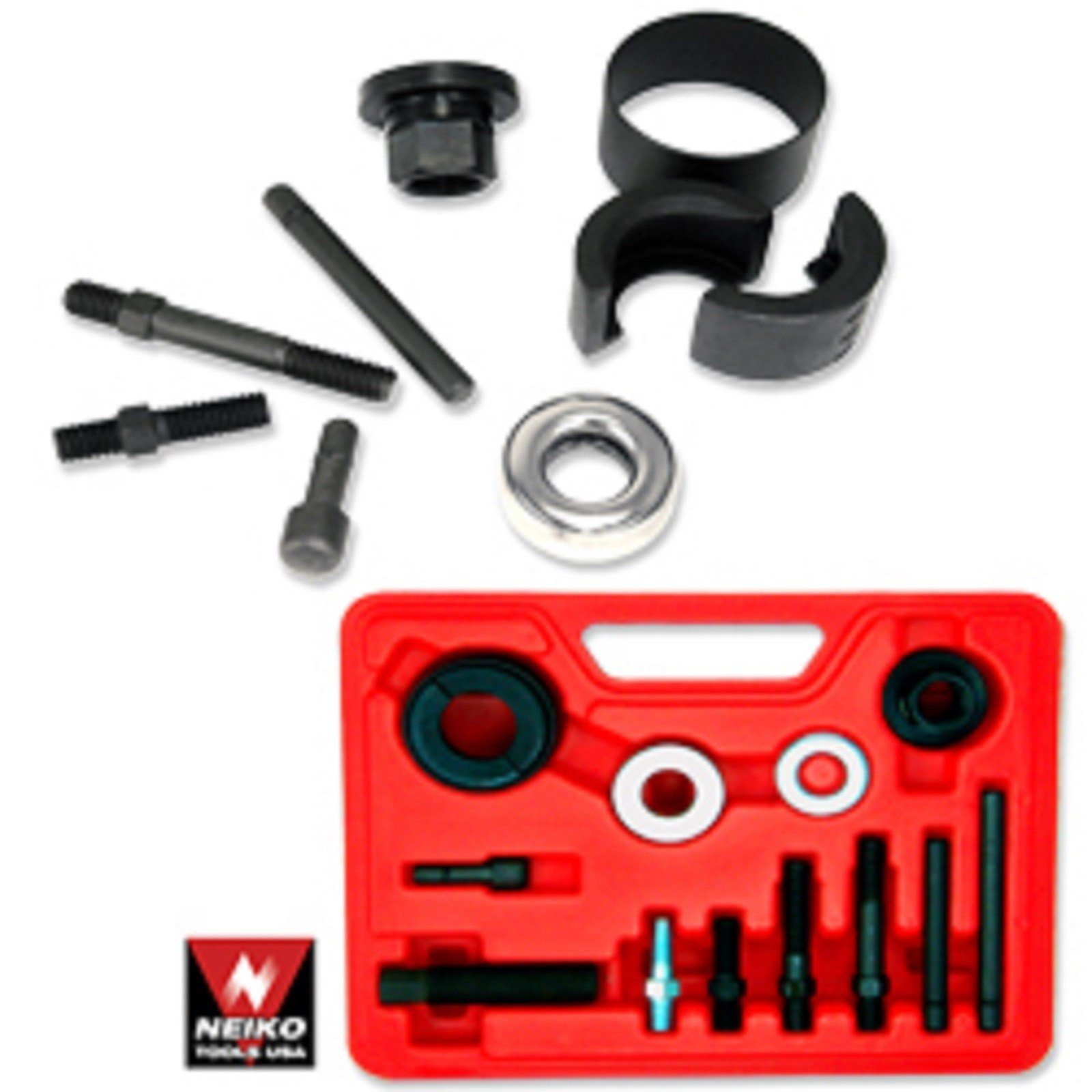 12pc Power Steering Alternator Pulley Puller / Installer Kits Gm Chyrysler Ford