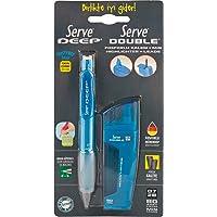 Serve SV-FMDM 07 Double Min Ve Fosforlu Ve Deep Mekanik Kurşun Kalem Set, Fosforlu Mavi