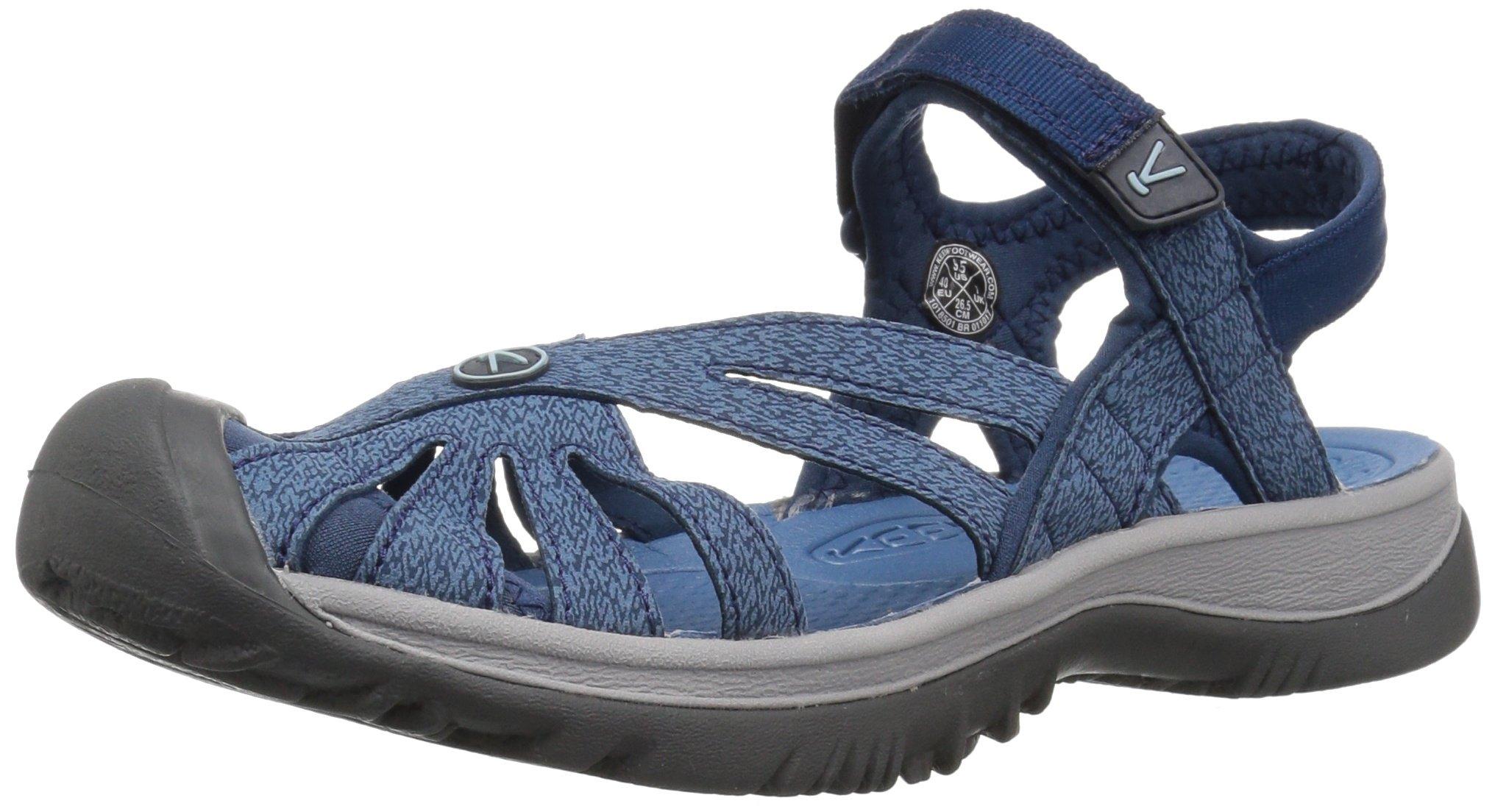 KEEN Women's Rose W Sandal, Blue Opal/Provincial Blue, 8 M US